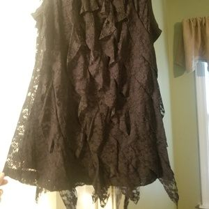 New Directions Black Lace Tank